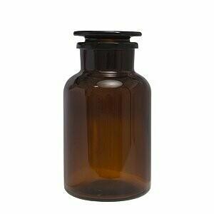 Peva pharmacy bottle glass (wide neck) brown 2000 ml