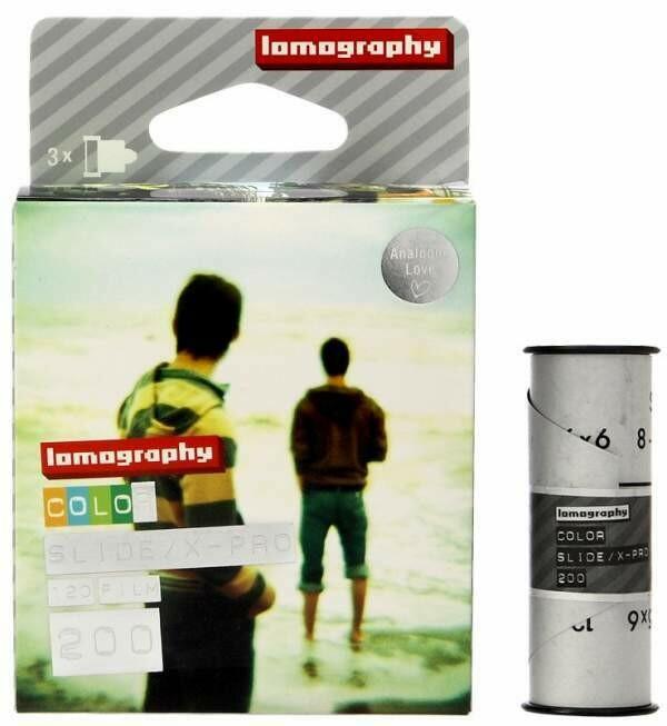 Lomography X-Pro Slide 200 Color Transparency Film (120 Roll Film, 3 Pack)  Date 05/2018