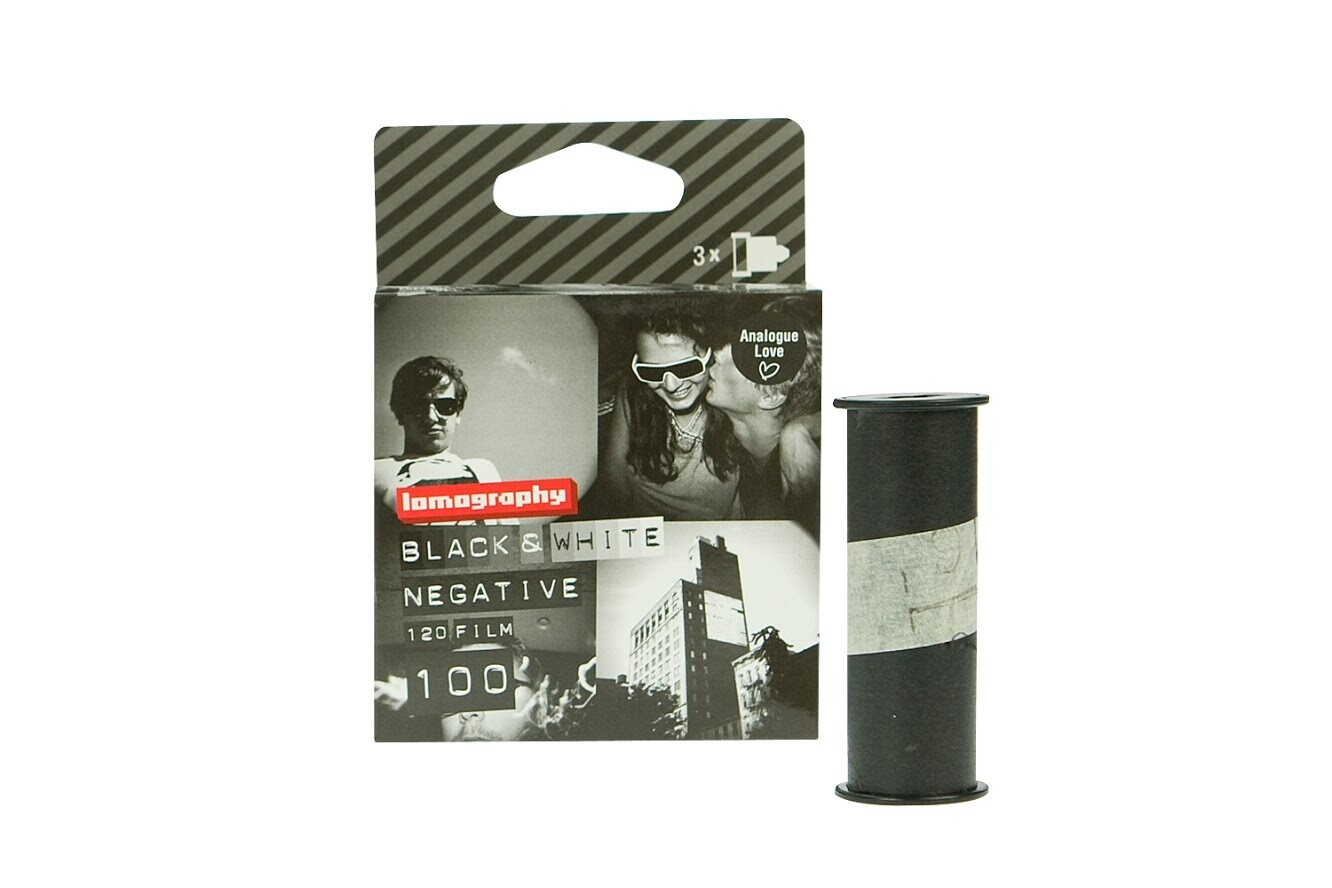 LomographyEarl Grey 100 Black and White Negative Film (120 Roll Film, 3 Pack) Expired 04/2022