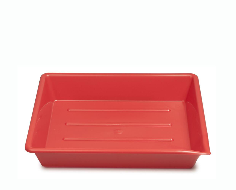 "Kaiser lab trays 9.5x12"" (24x30cm) red"