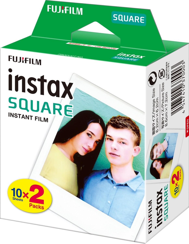 Fujifilm Instax Square, Sofortbildfilm Duo Pack, ( 20 Aufnahmen)