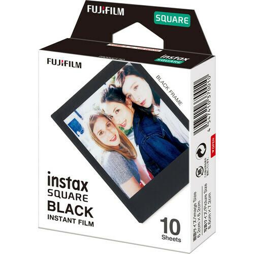 """Fujifilm instax SQUARE Instant Film """"Black Frame Edition"""" (10 Exposures)"""