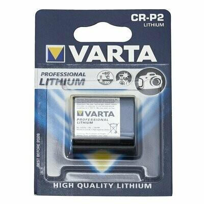 Varta CR-P2 Lithium Battery - CR223  (smaller than 2 CR5), 6 V battery