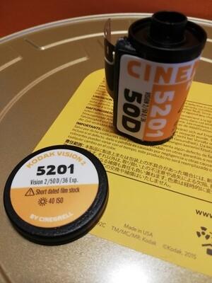 Kodak 5201 Vision 2 54D motion picture film ~ 35mm 35mm 36 exposures