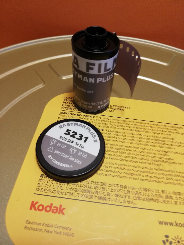 Kodak 5231 Cinema FilmPlus-X Black & White Film 35mm Plus-X ISO 80