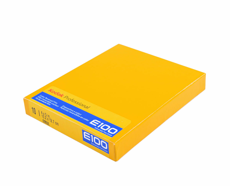 "Kodak EKTACHROMEE100 Color Transparency Plan-Film 4 x 5"", 10 Blatt MHD 01/2022"