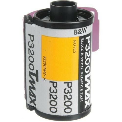 Kodak Professional T-Max P3200 Black and White Negative Film (35mm Roll Film, 36 Exposures) expired 07/2021