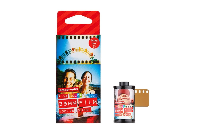 Lomography 100 Color Negative Film (35mm Roll Film, 36 Exposures, 3 Pack) date 01/2022