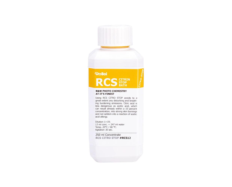 Rollei RCS Citrin Stop bath 250 Milliliter Bottle.