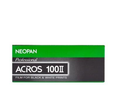 Fujifilm Neopan Acros 100 II - Format 120 - Five-Pack Date 12/2021