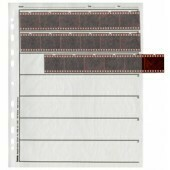 Hama Negative Sleeves made of Polypropylene, 7 strips for 6 negatives (24x36mm) 100 sleeves