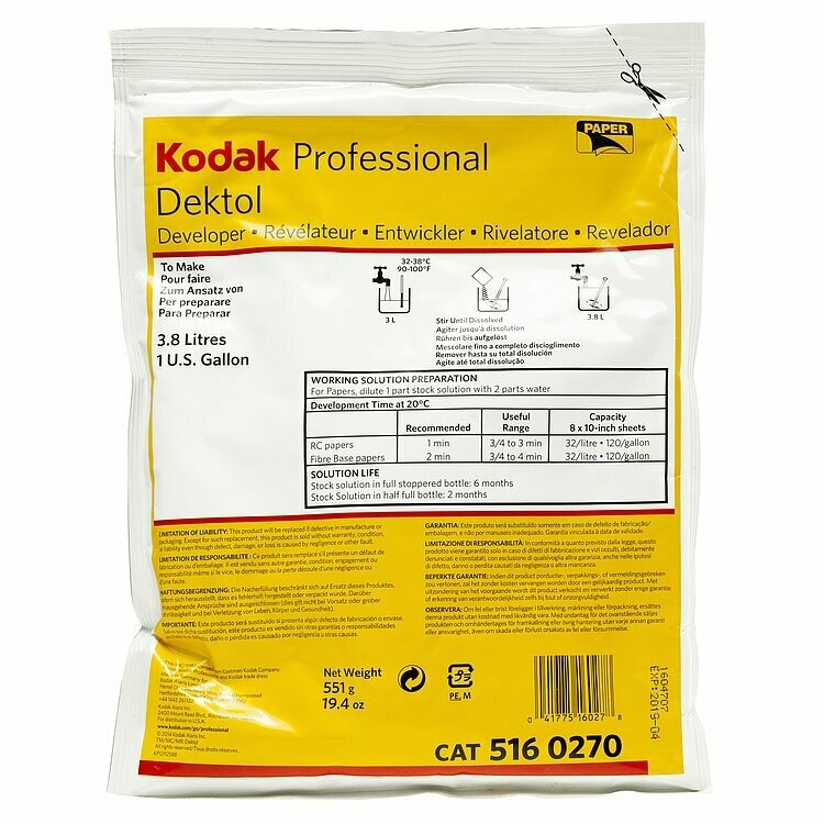 Kodak Dektol Developer