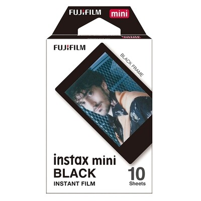 Fujifilm Instax Mini Black Frame Film Pack (10 Shots) 6,2x4,6 cm