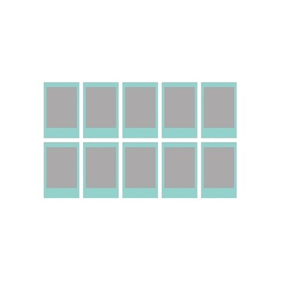 Fujifilm Instax Mini Sky Blue Frame Film Pack (10 Shots) 6,2x4,6 cm