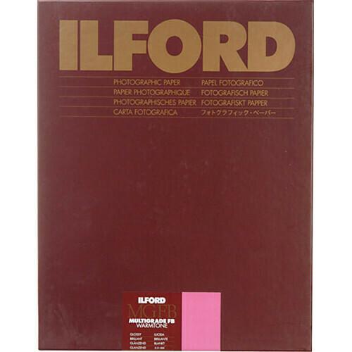 "ILFORD MGFBWT 1K Multigrade FB Warmtone Glanz 1K  24 x 30.5cm (9.5 x 12"") 10 sheets 1169007"