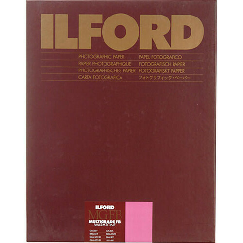 "ILFORD MGFBWT 1K Multigrade FB Warmtone Glanz 1K  40.6 x 50.8cm (16 x 20"") 10 sheets  1168392"