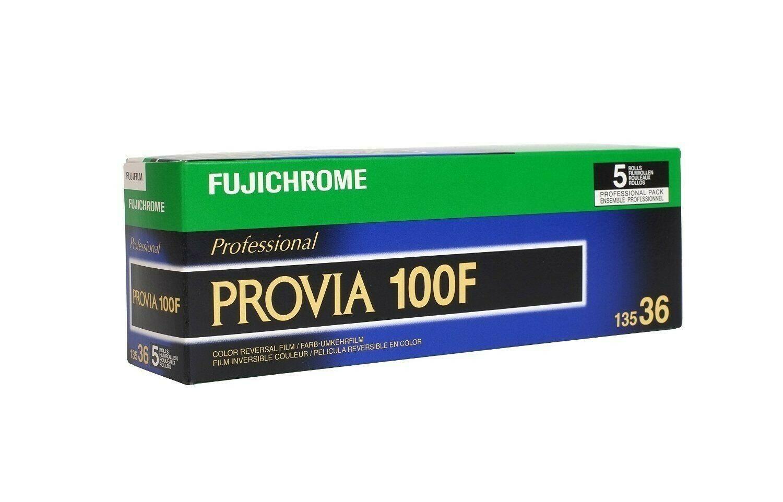 FUJIFILM Fujichrome Provia 100F Professional RDP-III Color Transparency Film (35mm Roll Film, 36 Exposures, 5 Pack) expired 01/2023