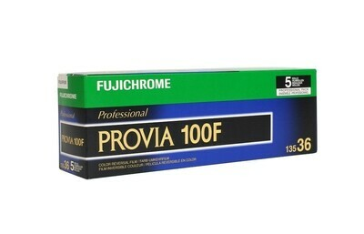 FUJIFILM Fujichrome Provia 100F Professional RDP-III Color Transparency Film (35mm Roll Film, 36 Exposures, 5 Pack) expired 06/2021