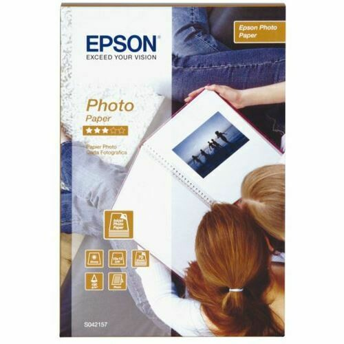 Epson Glossy Photo Paper 190g/m2 (4 x 6 inch/10 x 15cm) 2 x Packs of 70 Sheets C13S042171