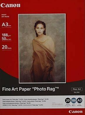 Hahnemühle Canon A3 Fine Art Paper Photo Rag - 20 sheets