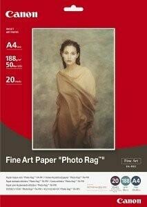 Hahnemühle Canon A4 Fine Art Paper Photo Rag - 20 sheets