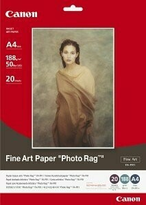 Hahnemühle Canon A4 Fine Art Paper Photo Rag - 20 sheets