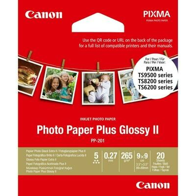 Canon Photo Paper Plus PP-201 9x9cm (2311B070) - 20 sheets