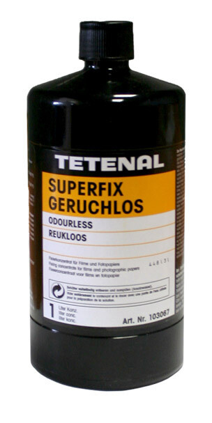 Tetenal Superfix odourless rapid fixing agent for all black and white films and photo papers. (103067)