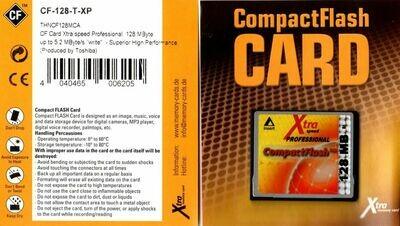 128MB Toshiba CompactFlash Karte Xtra Speed produced by Toshiba