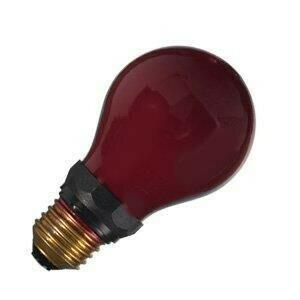 Darkroom Safelight Bulb Red 230v 15w E27 - Narva
