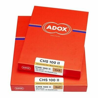 Adox CHS 100 II, 4x5 inch (10,2x12,7 cm), 25 sheets