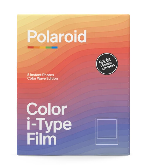 Polaroid Color i-TypeFilm | Sofortbildfilm mit 8 Aufnahmen - Wave-Shaped Color Gradient Frames