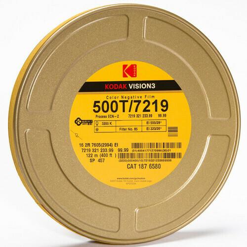 Kodak Vision 3 500 T 7219 35 mm, 122 Meter - 16 mm Farb-Negativfilm