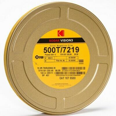 Kodak VISION3 500T Color Negative Film #7219 (16mm, 122m Roll)