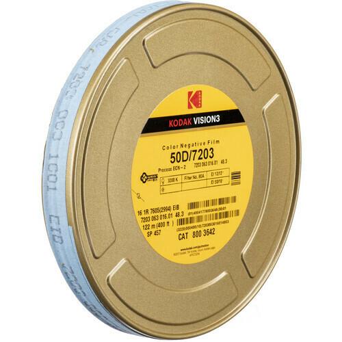 Kodak Vision 3 50 D 7203 35 mm, 122 Meter - 16 mm Farb-Negativfilm