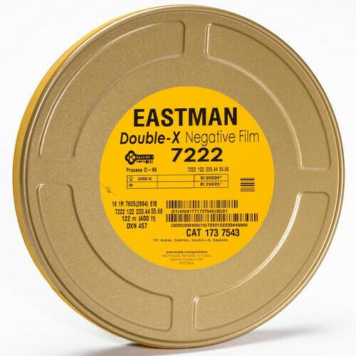 Kodak Eastman Double-X Black-and-White Negative Film 7222 (16mm, 122m Roll, Single Perf