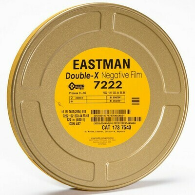 Kodak Eastman Double-X Black-and-White Negative Film 7222 (16mm, 122m Roll, Single Perf