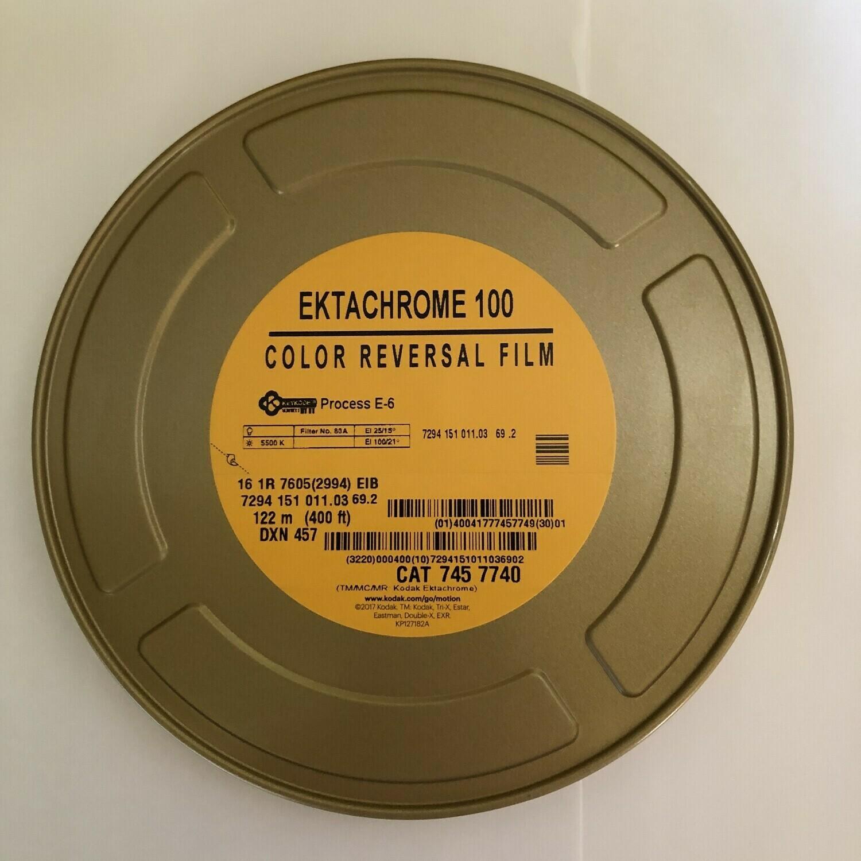Kodak Ektachrome 16 mm colour reversal 100D 122m 7294 - On demand