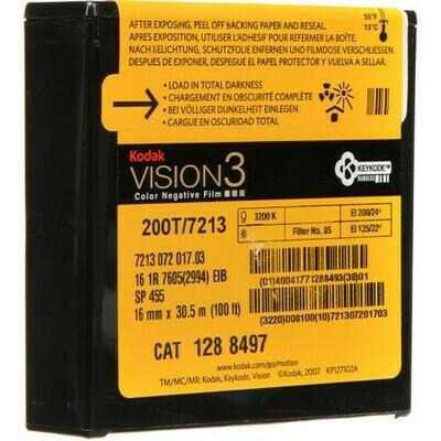 Kodak VISION3 200T Color Negative Film #7213 (16mm, 30.5m Roll)