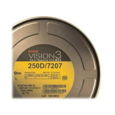 Kodak VISION3 250 D Color Negative Film #7207 (16mm, 122m Roll)