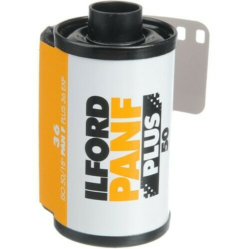 Ilford Pan F Plus Black and White Negative Film (35mm Roll Film, 36 Exposures) expired 08/2023