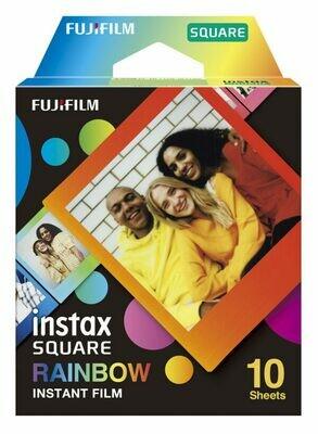 Fujifilm instax SQUARE Instant Film Rainbow (10 Exposures)