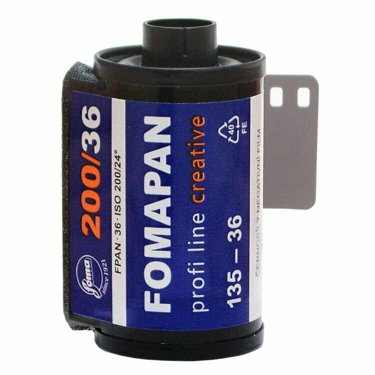 Fomapan 200 Creative Black and White Negative Film 135/36 expired 08/2023