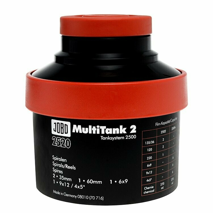 JOBO 2520 Multitank 2 - Scope of delivery: Tank complete, without spirals