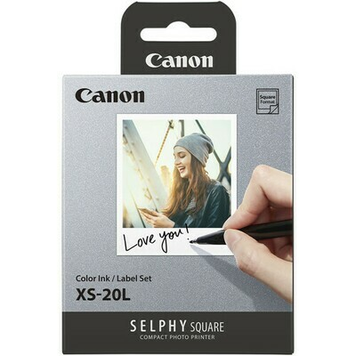Canon SELPHY Color Ink & Label XS-20L Set (20 Sheets)