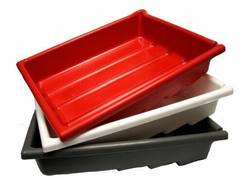"""Paterson Set 3 laboratory trays 26x32cm for paper size 20x25cm (8x10"""") white, red and grey - Pre-order now Available from 14.05.2021"""