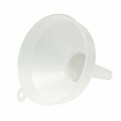 Funnel with sieve for photo chemicals 15 cm