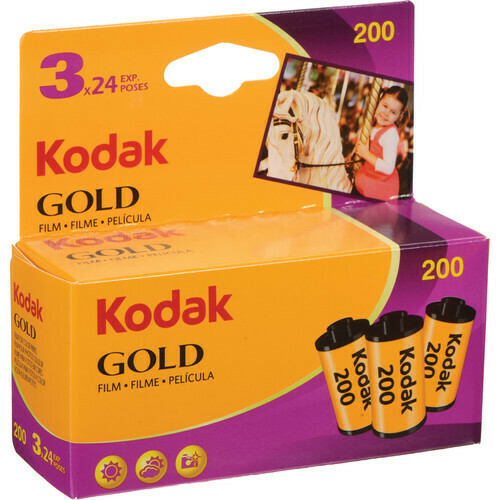 Kodak Gold Film 200 135-24 film for color prints expired 12/2021 (3 pieces)