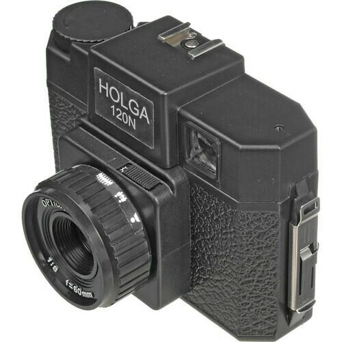 HOLGA 120 N camera for 120 roll film black