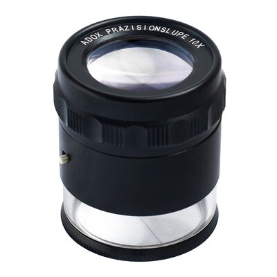 ADOX precision magnifier 10x with illumination